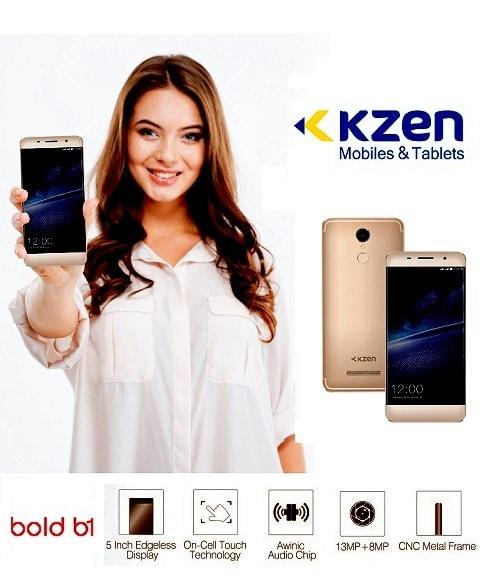 kzen mobile phone model girl holding kzen phone