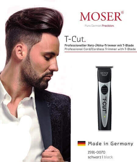 moser model displaying t-cut moser trimmer