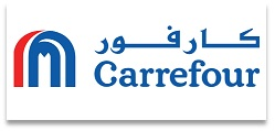 carrefour partner logo with national store llc